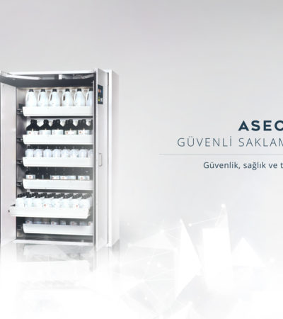 Yeni Güvenli Saklama Dolabı Asecos V-LINE