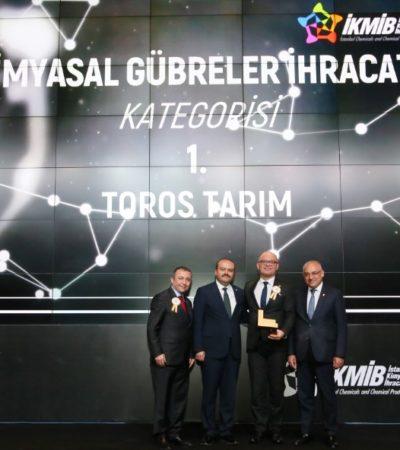Toros Tarım Türkiye'nin 2017 Kimyevi Gübre İhracat Şampiyonu Oldu