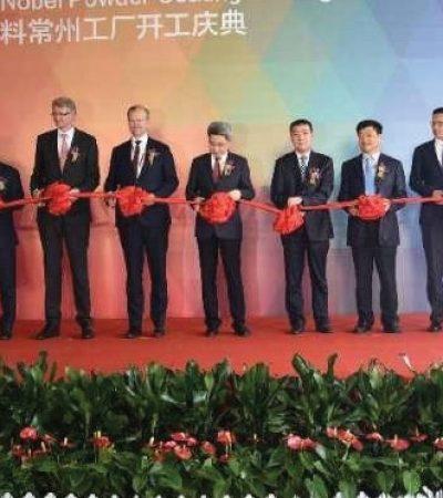 AkzoNobel'in Dünyadaki En Büyük Toz Boya Tesisi Çin'de Üretime Başladı