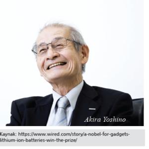 2019 Nobel Kimya Ödülü:Liytum İyon Pilleri
