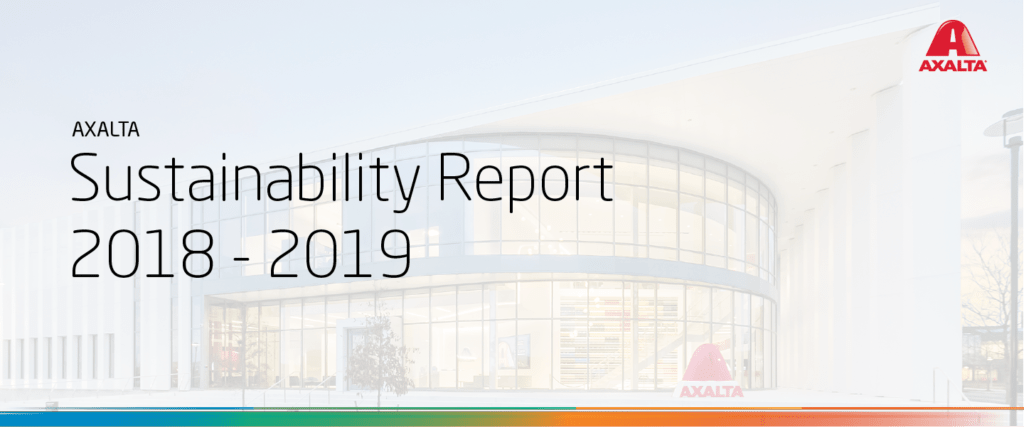 Axalta Releases 2018-2019 Sustainability Report