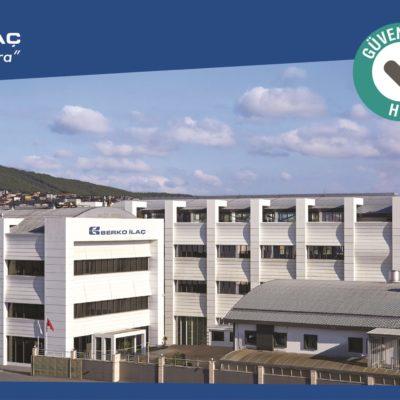 Berko İlaç COVID-19 Güvenli Üretim Merkezi Belgesi Aldı