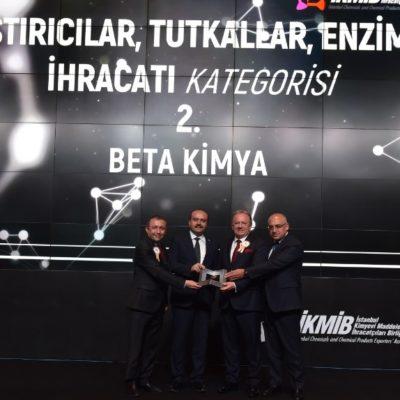 İKMİB'den Beta Kimya'ya İhracat Ödülü