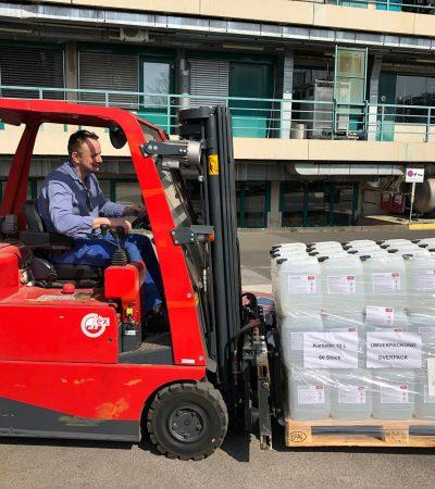 BASF Personal Care, Avrupa'da El Dezenfektanları Bağışlıyor