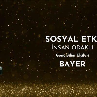 """""""Bayer Genç Bilim Elçileri Projesi"""" Ödül Aldı"""