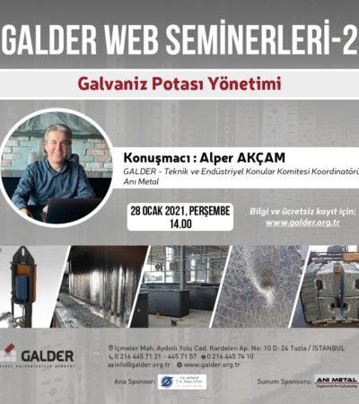 GALDER Webinar Serisi 28 Ocak'ta Gerçekleşecek