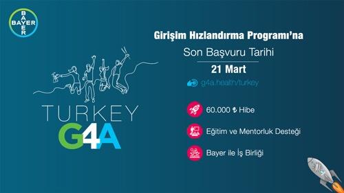 Bayer G4A Turkey 2021 Girişim Hızlandırma Programı Başvuruları Başladı