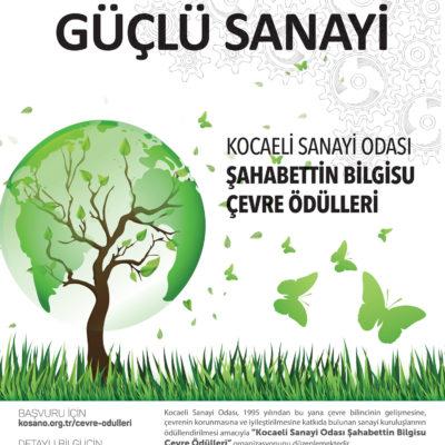 Kocaeli Sanayi Odası Şahabettin Bilgisu Çevre Ödülleri'nin 27.si Düzenlenecek