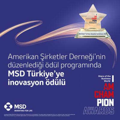 """MSD Türkiye, """"İnovasyon Kategorisinde Ödül Kazandı"""