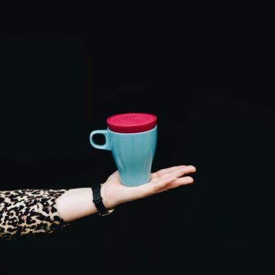 TPE'den Yapılmış Yeniden Kullanılabilir Kahve Fincanı Kapağı