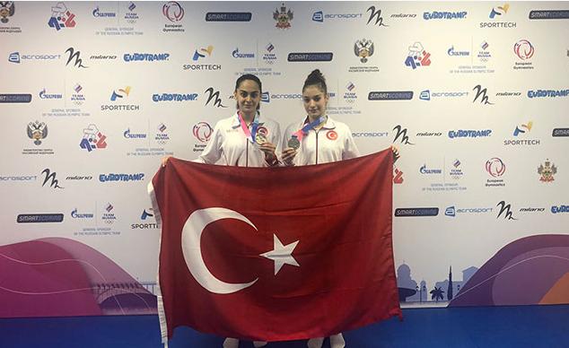 Türkiye Trampolin Cimnastik Tarihinin İlk Madalyalarını Kazandı