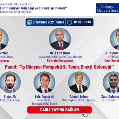 """""""Dünyada ve Avrupa Özelinde Net Sıfır Emisyon Geleceği ve Türkiye'ye Etkileri"""" Başlıklı Webinar Düzenleniyor"""
